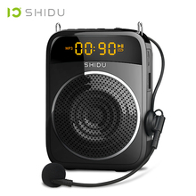 SHIDU 15W Portable Voice Amplifier Wired Microphone AUX Recording Personal Audio Bluetooth Speaker For Teachers Instructor S298