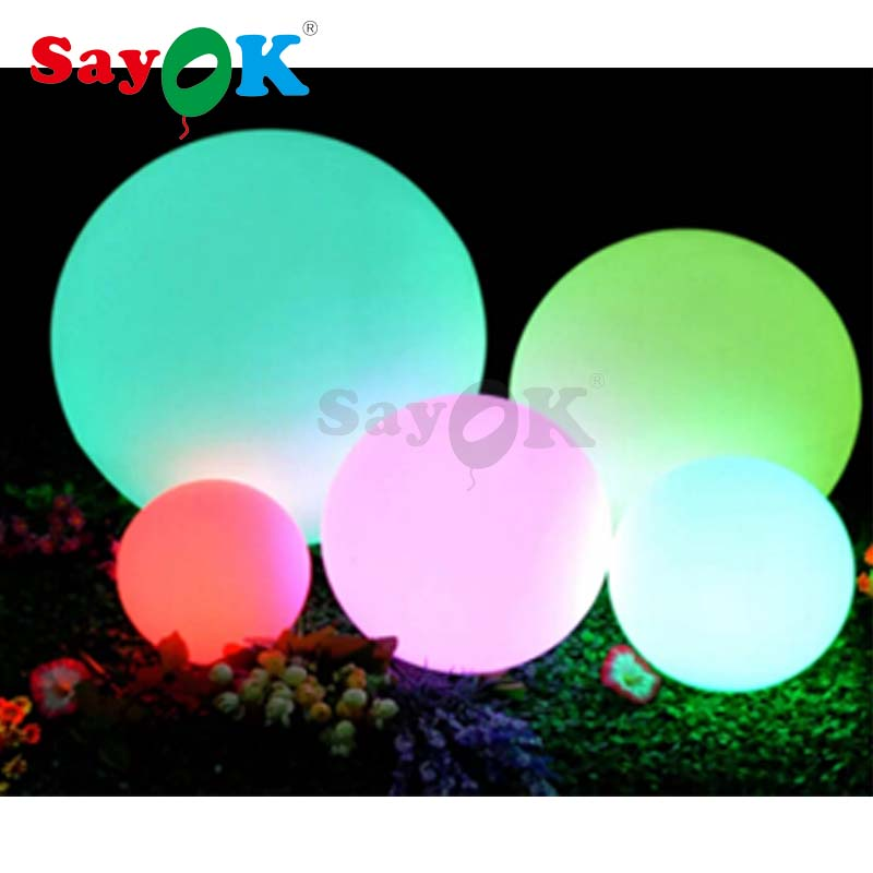 New Design PVC Inflatable Led Ball With RGB Light/PVC Inflatable Beach Ball Water Floating Balloon Sale