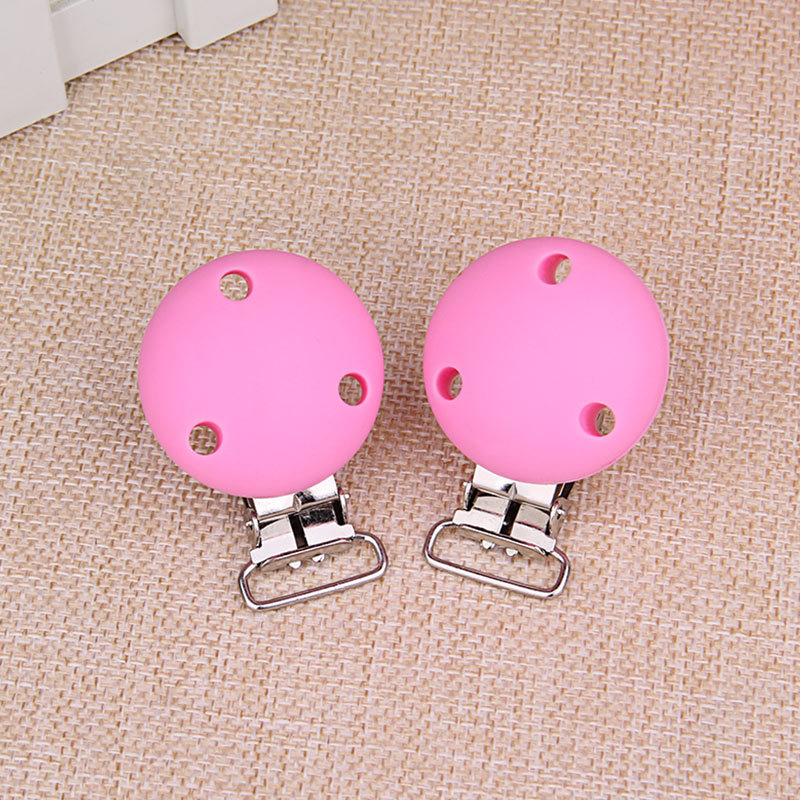 Round Shaped Pacifier Clip Big Silicone Bead Baby Clip Teething Accessories Clip Clasps Toy DIY Big Pacifier Chain Tool 3.5cm