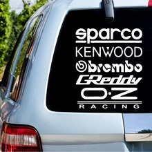 цена на Vinyl Kit Sparco Car Sticker for Car Door Window Decoration  Spanish Text Car Body Decal Styling Stickers And  Decals
