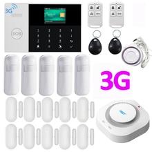 3g wifi домашняя система охранной сигнализации приложение управление с цветным экраном языки переключаемая охранная сигнализация
