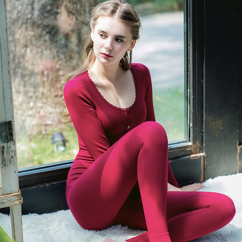 Long Second Skin Winter Female Thermal Clothing Cotton Sexy Women Ladies Autumn Shaping Thermal Bottoming Underwear