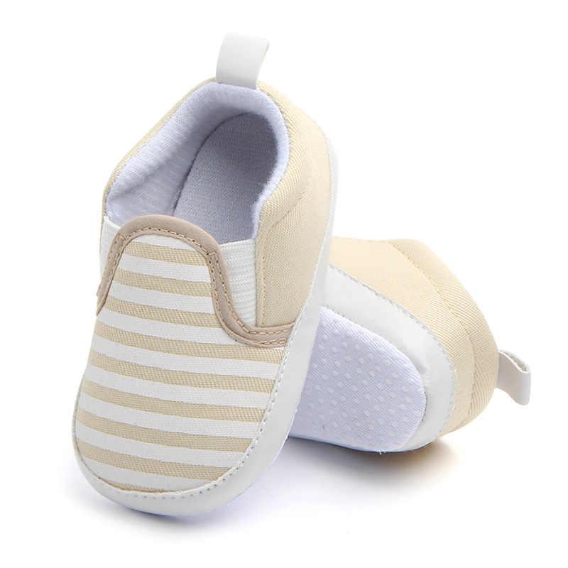 Zapatos de bebé casuales de rayas azul marino Zapatillas de algodón zapatos de niño zapatos de bebé Niña Zapatos de bebé primeros caminantes