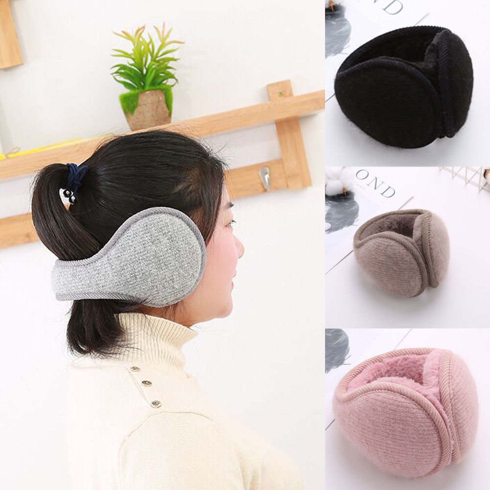 Adult Unisex Earmuffs Winter Warmer Thicken Plush Fluffy Ear Muffs Solid Earlap Solid Headband Alert Girls Ear Muffs Warmer
