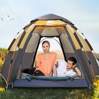 throw tent outdoor automatic tents throwing pop up waterproof camping hiking tent waterproof large family open Protable Awning