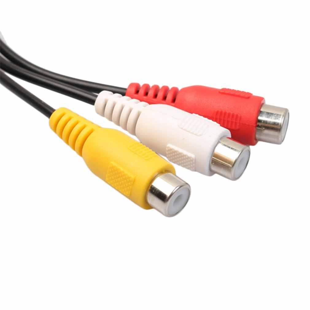 كابل الصوت 4 دبوس S-Video إلى 3 RCA أنثى كابل محول التلفزيون لأجهزة الكمبيوتر المحمول مع منفذ RCA الإناث و 4 دبوس S-Video ميناء Hot