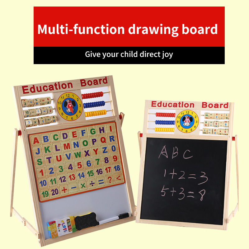 Дети 2 в 1 обучающая доска профессиональные магнитные Обучающие игрушки прочная Двухсторонняя доска для рисования детские развивающие игру...