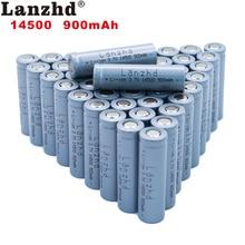 40pcs 14500 900mAh 3.7V Li-ion Rechargeable Batteries AA Battery Lithium Li ion Cell for Led Flashlight Headlamps Torch Mouse 2 4pcs unitek 3 7v 18500 battery 1800mah rechargeable li ion lithium ion cell with welding tabs pins for led torch flashlight
