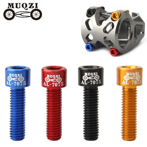 MUQZI 4Pcs Bicycle Handlebar Stem Screw Aluminum Alloy M5*17Mm Mountain Road Fixed Gear Stem Riser Bolts