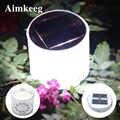 10LED Camping energía Solar plegable inflable portátil lámpara de luz al aire libre impermeable senderismo pesca iluminación LED luz Solar