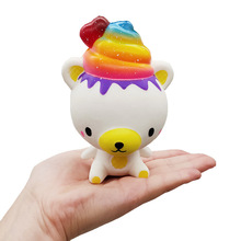 Squishy Squishies Kawaii Cartoon Rainbow Bear Angel Poopsie slime
