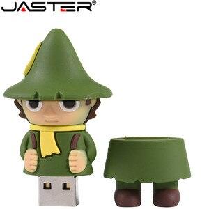JASTER USB 2.0 Pen drive 64GB 32GB 16GB 8GB 4GB cartoon Moomin Valley memory stick lovely Little My/Snufkin usb flash drive cle(China)