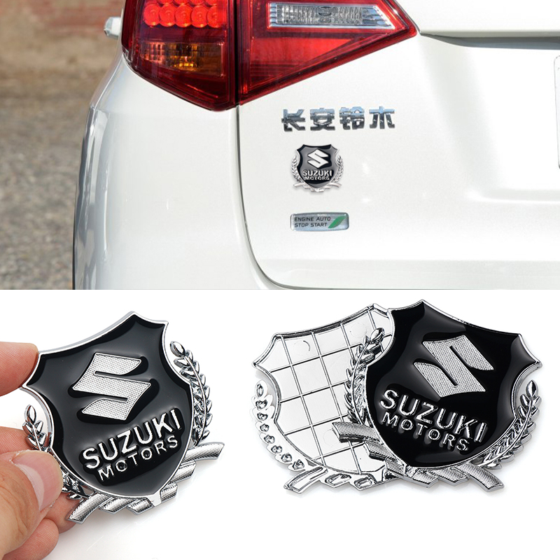 3D Car Styling Zinc Alloy Car Emblem Badge Sticker Decoration Decal For Suzuki Swift SX4 Vitara Jimny Motorcycle Fuel Tank