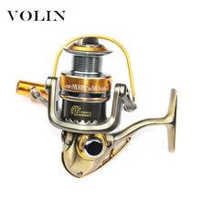 Катушка рыболовная volin полностью Металлическая 12 + 1 шарикоподшипник