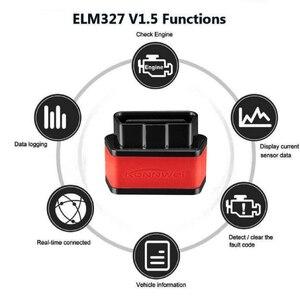 Image 2 - ELM327 WIFI araç teşhis tarayıcı Automotivo ODB 2 Autoscanner KW903 ELM 327 Wi fi OBD2 Bluetooth adaptörü Iphone Android için