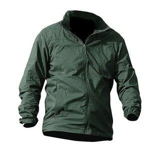 Image 5 - Jaqueta masculina militar, nova jaqueta de verão de 2020, à prova d água, de secagem rápida, tática, com capuz, protetor solar