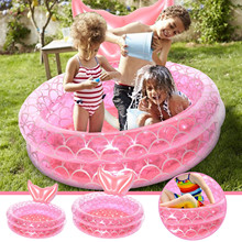 Baby Ring Baby Nflatable Mermaid Pink Round Swimming Rings Float Buoy Inflatable Waist Trainer Pool Inflatable Ring  Swim FE
