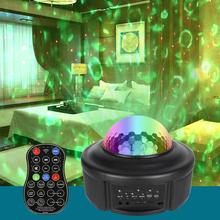 5V Starry Sky Light LED Night Projector Bluetooth Phone Remote Control Music Party Lamp Water Wave Colors For Children Room