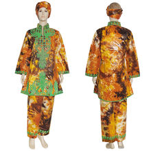 Dashiki Shirt MD African Bazin Long-Sleeve Vetement with Turban Suit Pants-Set Top-Trousers