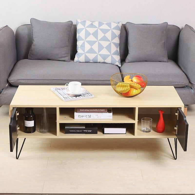Modern Television Stands Double Sliding Doors Drawer Storage Organizer Living Room TV Stands Furniture Cabinet Table HWC