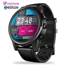 Zeblaze thor 4 pro 4g smartwatch 1.6 polegada cristal display quad core 16gb 600mah gps/glonass híbrido pulseira de couro relógio inteligente