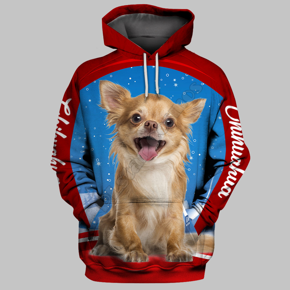 Chihuahua 3D Hoodies Printed Pullover Men For Women Funny Christmas Sweatshirts Cosplay Sweater Drop Shipping 01
