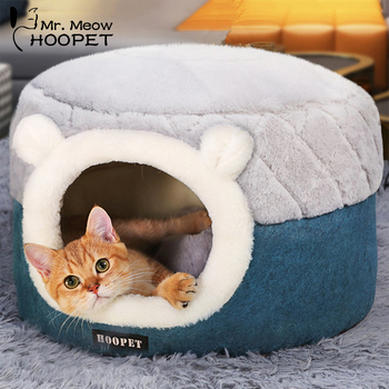 Cozy Snuggly Warm Kitten Cave Lounger - For Puppies Too!  1