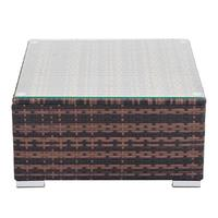 Household Fully Equipped Weaving Rattan Sofa Brown Gradient Coffee Table