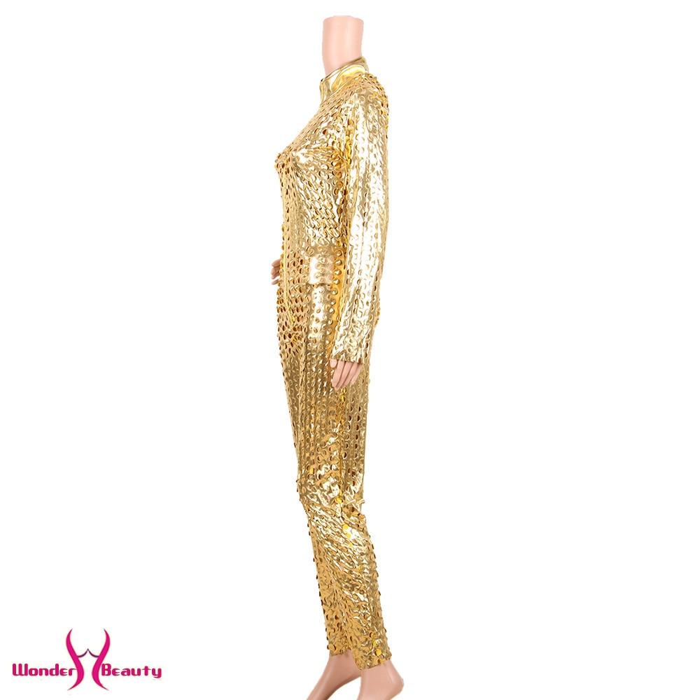 faux leather catsuit catwomen shiny black gold silver metallic leather jumpsuit wetlook pu leotard bodysuit bar night clubwear (15)