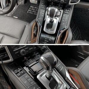 Image 5 - רכב gear shift knob מנוף מקל עבור פורשה קאיין 2011 2017 ידית משמרת ידית הילוכים מקל שיפטר להחליף מהירות בקרת מנוף