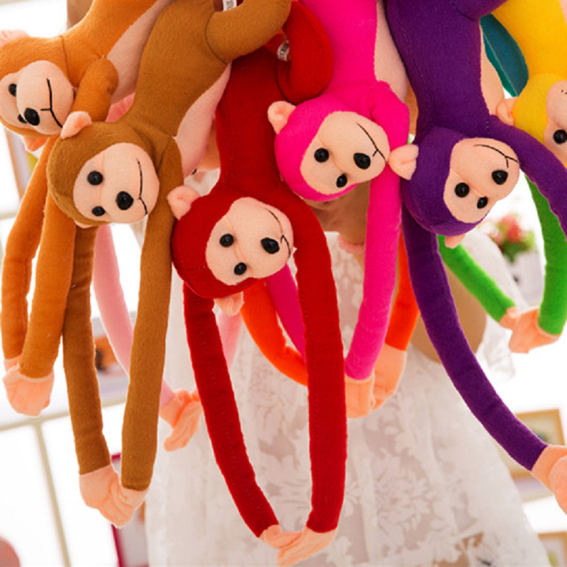 Big 70cm Hanging Long Arm Monkey From Arm To Tail Soft Plush Doll Baby Toys Colorful Doll Toy For Kids Birthday Gifts Home Decor