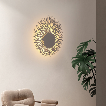 Novelty led wall light, can be used for modern living room bedroom bedside lamp study aisle stairwell background wall lighting