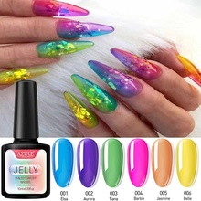 AZURE BEAUTY 6Pcs/Lot Transparent Jelly UV Gel Polish Nail S