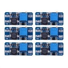 6 шт MT3608 DC 2A шаг вверх Мощность модуль усилителя 2 v-24 v повышающий преобразователь постоянного тока для Arduino
