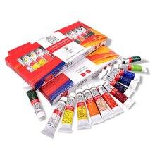 WINSOR & NEWTON 12/18/24 renkler profesyonel yağlı boya Pigment seti 12ml tüp sanatçı için yağlıboya çizim malzemeleri yüksek kaliteli