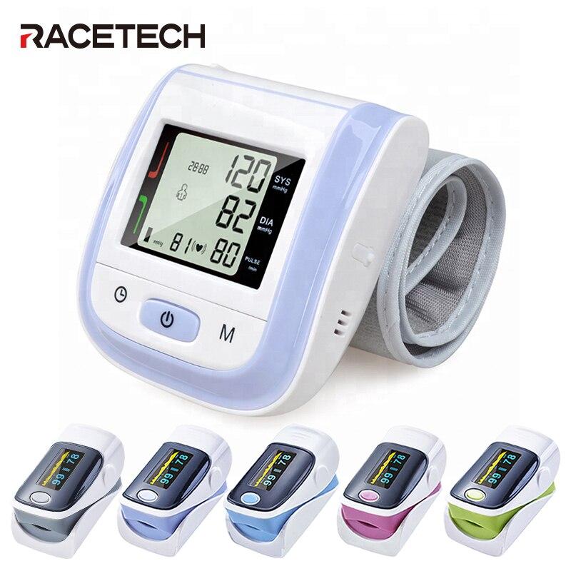 Profesional Oximetro Tonometer Automatic Finger Pulse Oximeter Saturometro Meter Wrist Blood Pressure Monitor Tensiometro
