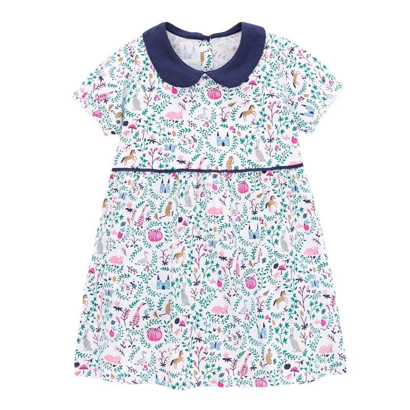 Little Maven 2021 New Summer Baby Girls Clothes Brand Dress Toddler Cotton Dot Bunny Flower Print Dresses for Kids 2-7 Years 6