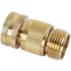 Image 4 - Садовый шланг быстрое соединение Твердый латунный быстрый соединитель садовый шланг Соединительные соединители водяного шланга 3/4 дюйма (3 комплекта)
