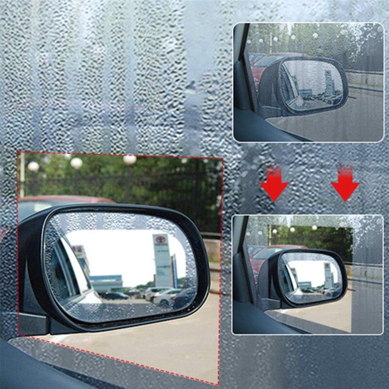 2 unids/set Universal de coche impermeable coche ventana Anti niebla de agua Anti niebla impermeable protectora ventana coche de la película, película adhesiva