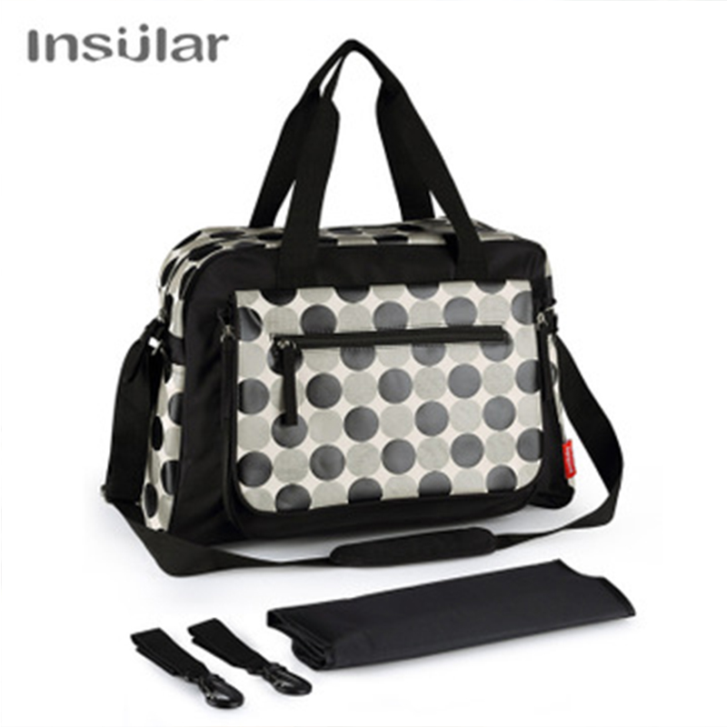 Insular Fashion Baby Bags For Mom Diaper Bag Waterproof Dot Nappy Bag Stroller Large Capacity Totes For Maternity Care Travel