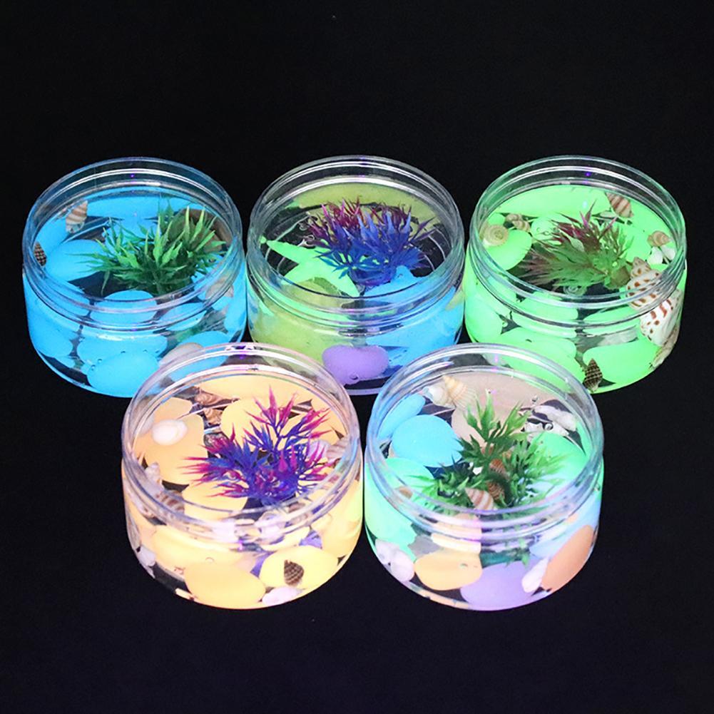 Kids Slime Toy Seaweed Underwater World Glow In Dark Transparent Slime Putty Stretchy Kids Toy 100g