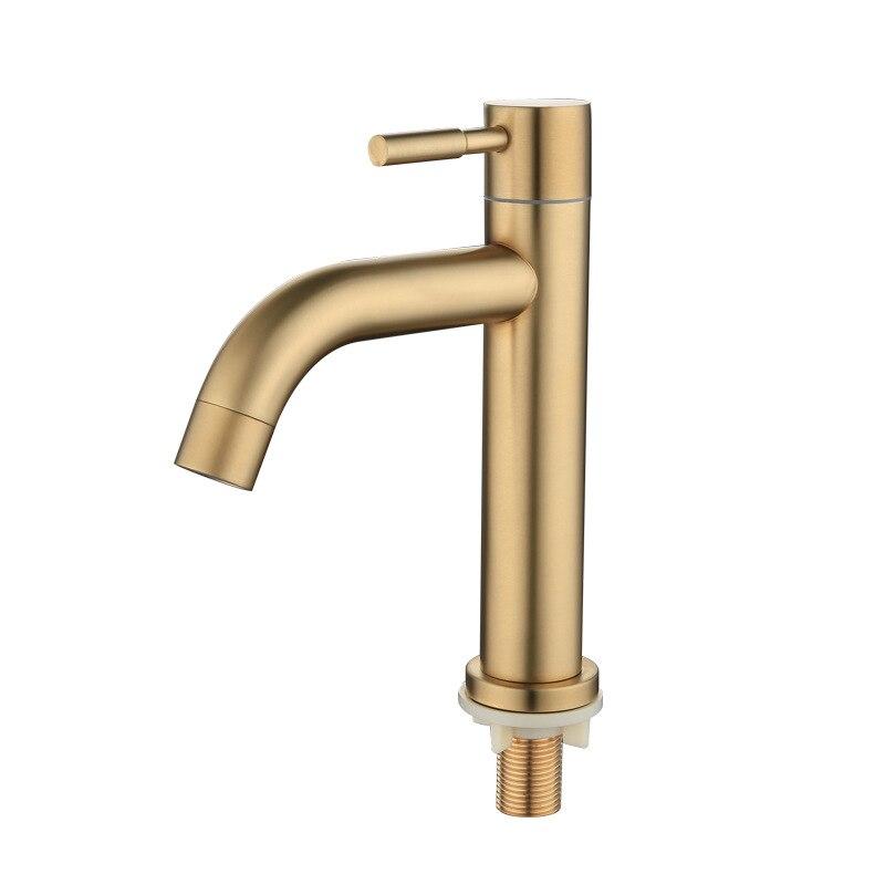 Золотой кран для ванной комнаты с кисточкой, однорычажный кран для раковины, смеситель для раковины, водопроводный кран 304 SUS