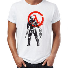 Marvel Uomini T Camicette Gordon Freeman Half Life Impressionante Gioco Tee di Estate/Autunno O-Collo T-Camicette Per Adulti(China)