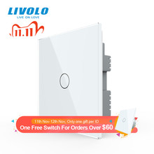 Livolo UK standard  Wall Light Touch Switch,Glass Panel,touch sensor control,with led backlight,1 4gangs,wall touch switch