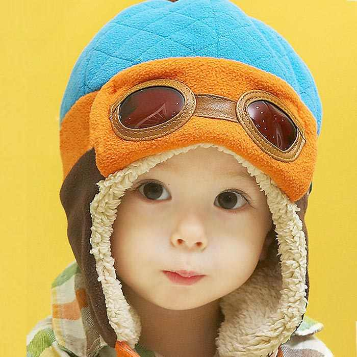 2020 ベビー冬のウォームキャップハットビーニーパイロットかぎ針耳介帽子新生児の写真の小道具ボンネットベベ naissance