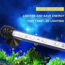 1 set Aquarium Fish Tank  9/12/15/21 LED Light Blue/White 18/28/38/48CM Bar Submersible RGB Remote Waterproof Clip Lamp US Plug