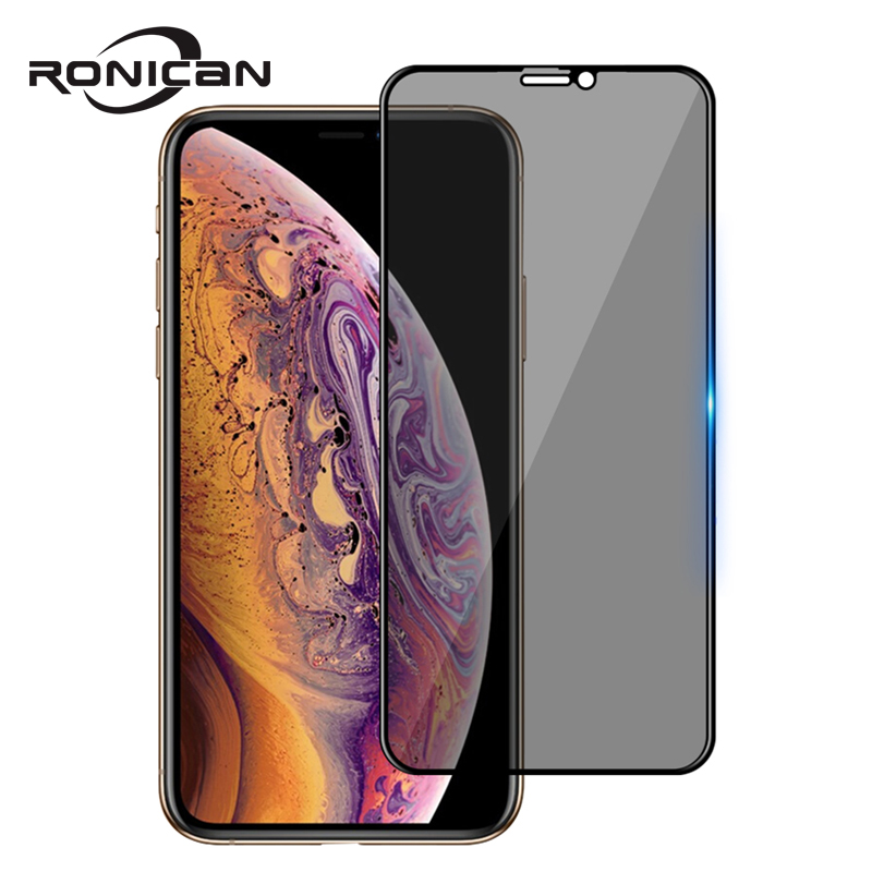 Best 9H Full Privacy Tempered Glass For iPhone 6 6S 7 8 Plus X XS MAX XR Anti Spy Glare Peeping Screen Protector High Definition