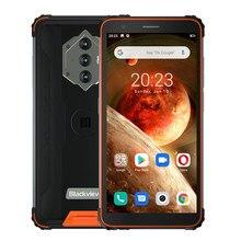 Blackview bv6600 nfc 8580mah telefones celulares à prova de choque à prova dblackágua android 10 smartphones ásperos 4g octa núcleo 4gb 64gb telefone