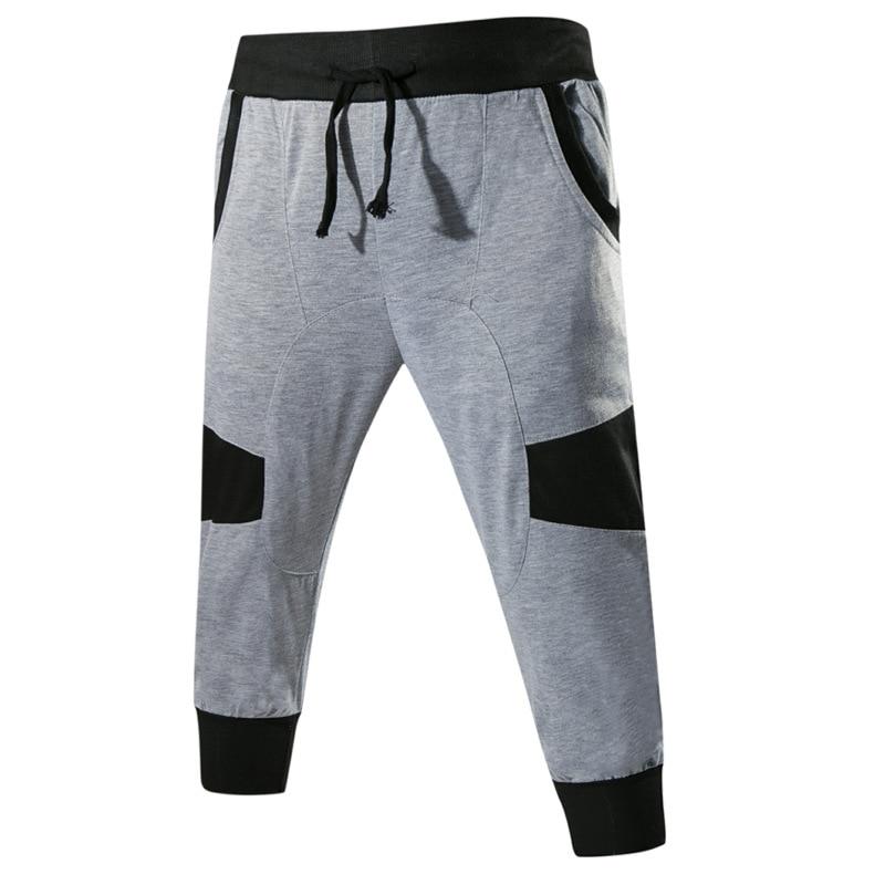 2019 Korean-style Casual Pants Shorts Men-Style Fashion-Pants Men Joint Cropped Trousers For Men Versatile Pants