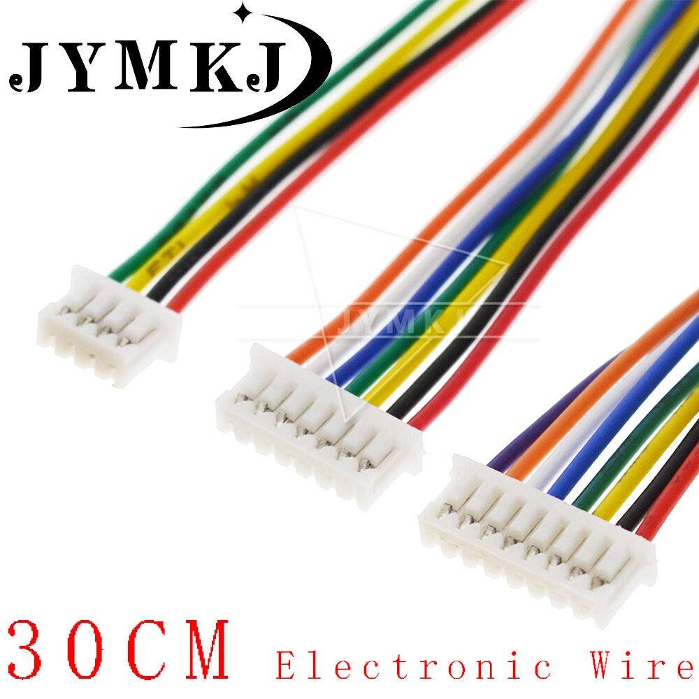 10 шт. PCB разъем XH 1,25 JST 2/3/4/5/6/7/8/9/10 пин одна осветительная головка, разъем с 300 мм 28AWG 80C 30 CBB AGM соединители проводов